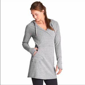 Athleta Violet Unwind Hooded Sweatshirt Dress